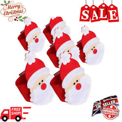 Christmas Santa Claus Napkin Rings Serviette Holder Christmas Table Decorations