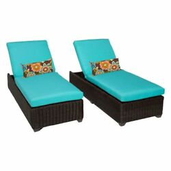 TK Classics Venice Outdoor Chaise Lounge - Set of 2 Chairs and Cushion Covers