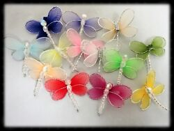 Nylon Mesh Dragonfly 3 D Decor Arts and Craft Home Decor Jewelry 25 50 HBN 20 $5.49