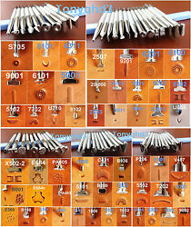 10kinds 54pc Stainless Steel Leather Craft Carving Stamping Stamp Punch Tool Set