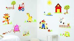 Fun To See Wall Stickers Kids Bedroom 79 Stickers Funberry Farm Theme New GBP 10.99