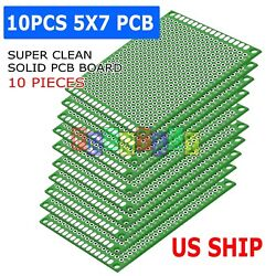 10X Double Side 5x7cm PCB Strip board Printed Circuit Prototype Track LW $5.95