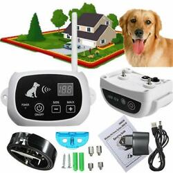 Instant Wireless Electric Dog Fence System Waterproof Shock Collars For 1 3 Dogs $54.99