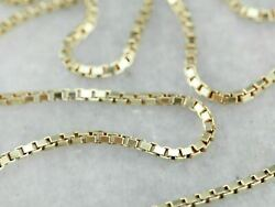 14K Solid Yellow Gold Box Necklace Chain 0.60mm 22#x27;#x27; Inch Real Gold $117.79