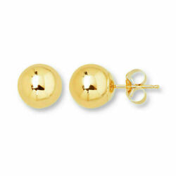 14K Yellow Gold Ball Stud Earrings - Genuine Gold - 3mm 4mm 5mm 6mm 7mm 8mm