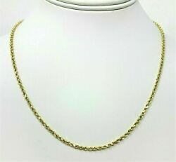 Real 14K Yellow Gold Necklace Gold Rope Chain 1.8 mm 16''-30''  Genuine 14KT $157.84