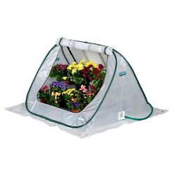 FlowerHouse Portable Greenhouse 4 ft. x 4 ft. Collapsible Zipper Closure Clear