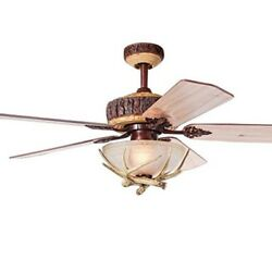 Ceiling Fan Rustic Light Cover Indoor Home Decor Cabin Lodge Living Room New