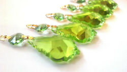 5 Spring Green 50mm French Chandelier Crystals Prisms Pendants $15.99