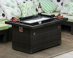 Propane Coffee Table Outland Living Series 401 Brown 44-Inch Outdoor Propane