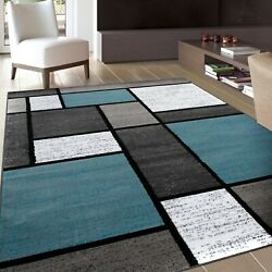 RUGSHOP CONTEMPORARY MODERN BOXES SOFT AREA RUGS $54.99