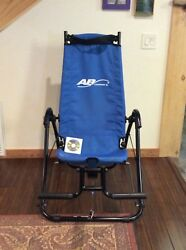 AB LOUNGE 2 ABDOMINAL CORE FITNESS WORKOUT EXERCISE CHAIR W INSTRUCTIONAL DVD