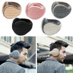 Men Women Ear Muffs Winter Ear Warmers Knitted Adjustable Wrap Around Earmuffs