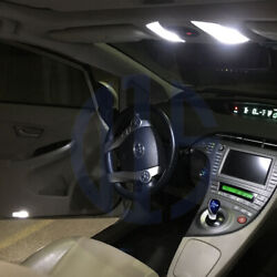 10 x White LED Interior Bulbs Lights Package For 2010- 2018 Toyota Prius