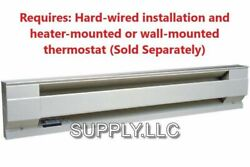 WALL ELECTRIC BASEBOARD HEATER by CADET Convection Heat 120V amp; 240V White $99.95
