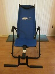 AB Lounge 2 Abdominal Workout Fitness Exercise Blue Lounger Chair Machine
