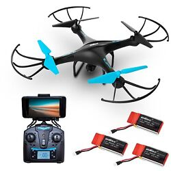 Force1 U45WF Blue Jay WiFi FPV Quadcopter Drone with HD Camera 720P Video Live $115.99