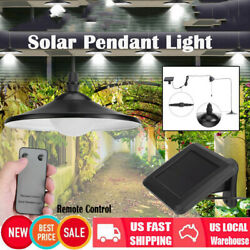 Outdoor Solar Powered LED Industrial Pendant Light Remote Control Hanging Lamp $24.99