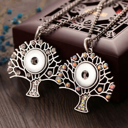 Hot High Quality Tree of Life Pendant fit Snap Button Necklaces 18mm For Women