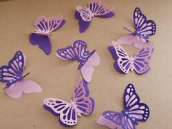 15x 3D paper butterflies Birthday Wedding Party table decoration purple amp; pink GBP 3.20