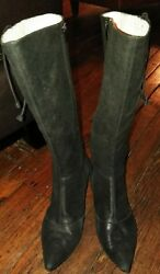 Marc Jacobs Womens Boots Black Leather Pointed Toe Size 38.5 US 8 $30.00