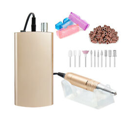 Rechargeable 30000RPM Electric Polisher Nail Manicure Machine Art Drill File Set