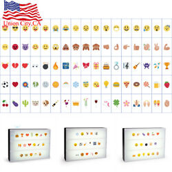 A4 Cinematic Light Up 85 Emoji Letters Box Sign DIY Message Board Party Decor