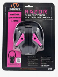 WALKERS GWP RSEM PNK RAZOR SLIM SHOOTER ELECTRONIC MUFFS BLACK AND PINK $41.49