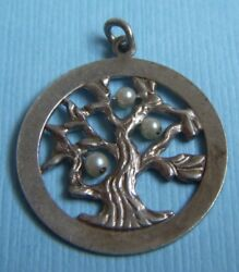 Vintage tree of life with pearls sterling charm $29.99