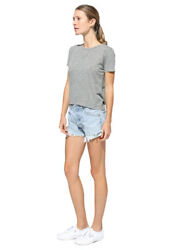 Sundry Tie Back Tee One Day At A Time Heather Grey Sizes XS S M L RRP £97
