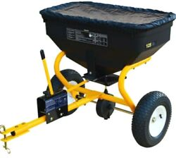 Extra Large Tow Behind Broadcast Fertilizer Spreader Seed Hopper Melt Lawn ATV $224.20