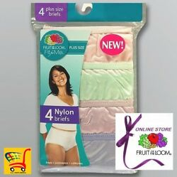 Fruit of the Loom Women's Fit for Me Plus Size 100% Nylon Briefs (Value Packs) $13.90