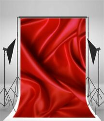 Red Silk Texture 5x7ft Photography Backdrops Banner Vinyl Photo Backgrounds $11.69