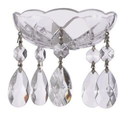 Asfour Lead Crystal Bobeche with 38mm Teardrop Chandelier Crystals Lamp Parts $18.99
