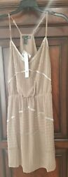 NWT Party Evening Cocktail Formal Dress by Aqua Size Small in Taupe $49.99