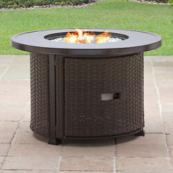 Large Fire Pit Portable Propane Round Gas Huge Aluminum Winter Outdoor Patio NEW