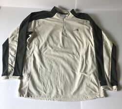 The North Face Outdoors Quarter Zip Fleece White Gray Mens XL TKA 100 Sweater
