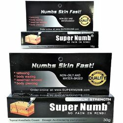 SUPER NUMB Numbing Cream Anesthetic Tattoo Piercings Waxing Laser Microblading