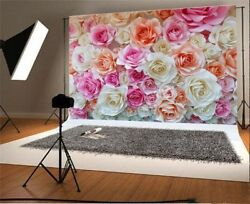 Photography 7x5ft Blooming Rose Flower Backgrounds Vinyl Photo Backdrops Banner $14.00