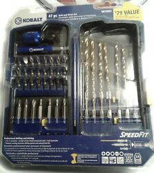 KOBALT 47 Piece Drill amp; Drive Bit Set Speed Fit 2 in 1 Connector NEW amp; SEALED $19.99