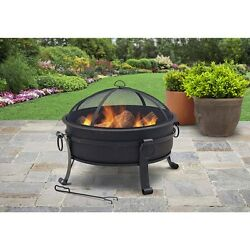 Firepit Fire Pit Fireplace Outdoor Round Patio Bowl Wood Burning Steel Portable