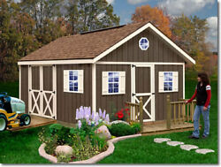 Best Barns Fairview 12x12 Wood Storage Shed Kit - ALL Pre-Cut