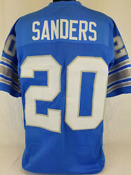 Barry Sanders Unsigned Custom Sewn Blue Football Jersey Size - L XL 2XL