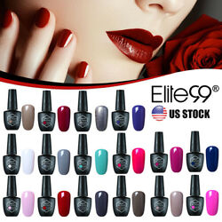 Soak Off Color Gel Nail Polish Varnish Lacquer UV LED Base Top Coat 10ml Elite99