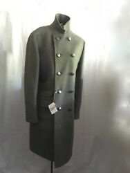 NWT Brunello Cucinelli Coat Size 40 US Wool Cashmere Grey Mens 50 IT
