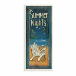 The Stupell Home Decor Collection Summer Nights Adirondack Chair Illustration