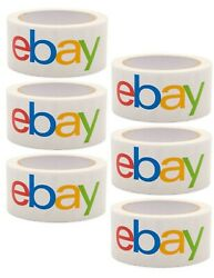 6 Rolls Official eBay Brand Logo Packing Packaging Tape Shipping 2x75 $16.79