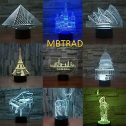 3D MOONLIGHT Touch illusion Christmas gifts Color Change Led USB Lamp home decor