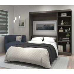 Bestar Pur 84quot; Full Wall Bed with Storage in Bark Gray $1800.35