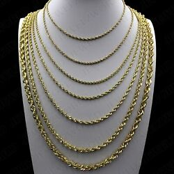 Real 10K Yellow Gold 2mm 6mm Diamond Cut Rope Chain Necklace Bracelet 16quot; 30quot; $219.99